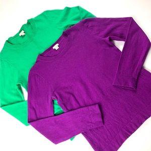J Crew cotton wool teddie sweaters